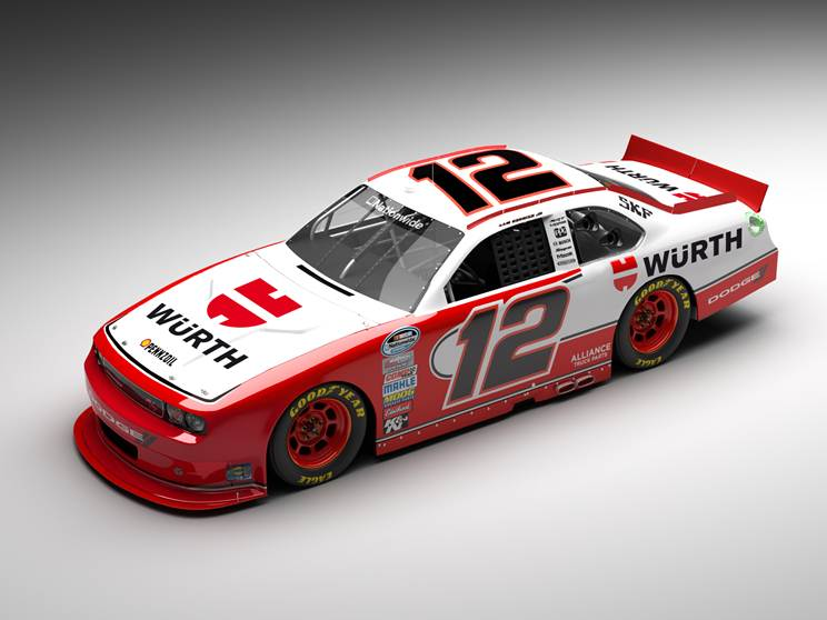 The number 12 car with Würth Sponsorship