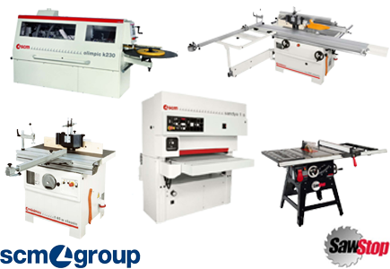 SCM Group and SawStop machinery available from Würth Baer Supply