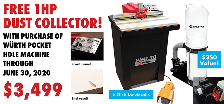 FREE 1HP Dust Collector! (opens PDF in new window)