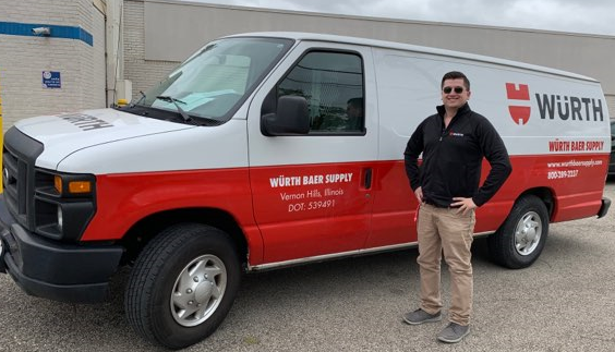 Evan Adams and Würth on Wheels!