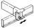 Product: Grass Zargen Drawer Systems - Metal Railing Sytems, Divider Railing Clip