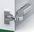 Product: +45° Tiomos Angle Corner, Soft-Close Hinges - For Inset Doors