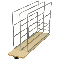 Product: Base Cabinet Tray Dividers - Wood Base Roll-Out Tray Dividers