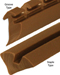 Product: Glass Panel Retainer Extrusions - Groove or Staple Type, Rubber Extrusion