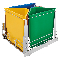 Product: Bottom Mount Recycle Center w/ Pull-Outs - Soft-Close, Triple Plastic Bins